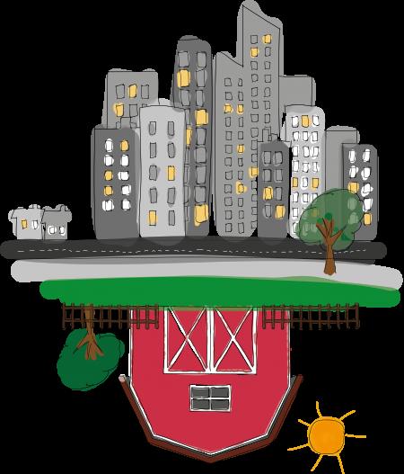 Illustration d'une ferme urbaine souterraine de La Caverne